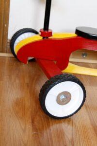 Front plastic wheels