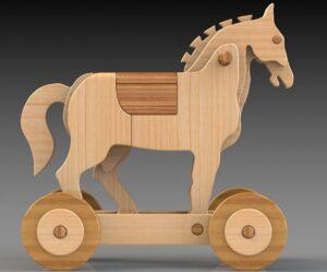 Trojan Riding Horse